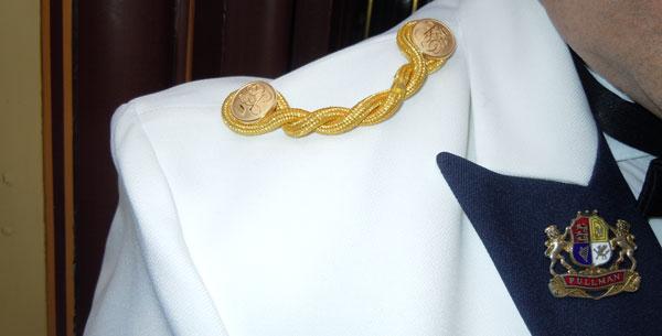 detail on new orient express uniforms