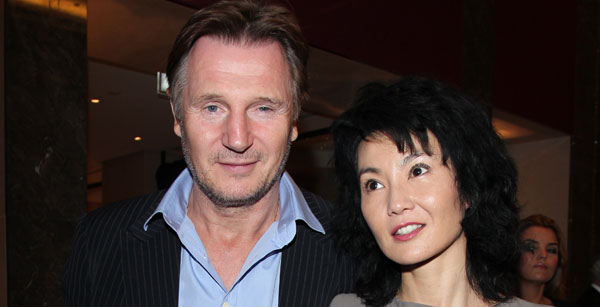 Leam Neeson and Maggie Cheung 1