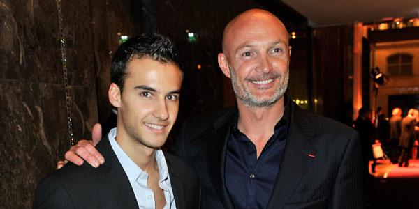 Frank Leboeuf and son Hugo