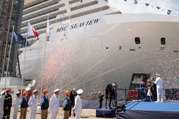 MSC Cruises takes delivery of 'next-generation' ship MSC Seaview