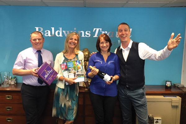 Baldwins Travel celebrates £50k booking
